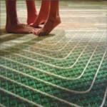 Vloerverwarming patronen leggen